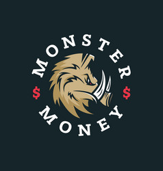 Modern professional logo emblem monster vector