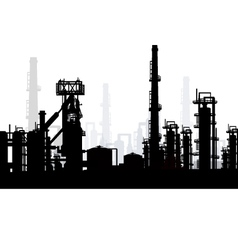 Oil and gas refinery vector