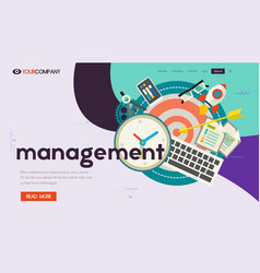 One page website kit for trendy technologies vector