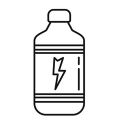Pack energy drink glass icon outline style vector