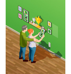 Parents isometric vector