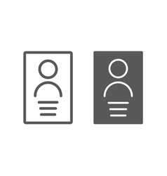Personal data line and glyph icon file and vector