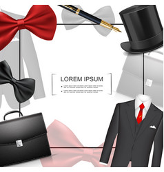 realistic businessman style template vector image