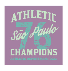 S o paulo sport t-shirt design vector