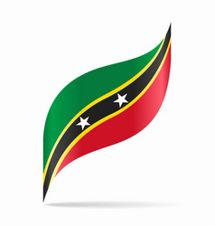 Saint kitts and nevis flag wavy abstract vector