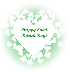 saint patricks day background frame with vector image