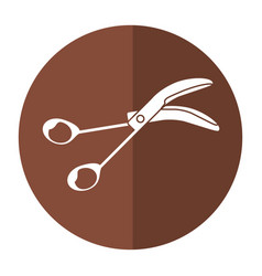 Sccissors surgery tool icon shadow vector