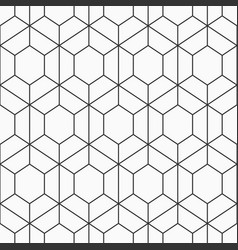 Seamless geometric pattern of hexagons vector