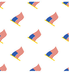 seamless pattern with flags united states vector image