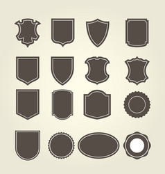 set of shield in different shapes vector image
