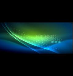 shiny color smooth elegant neon wave vector image