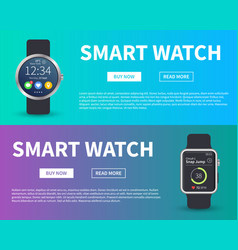 smart watch concept electronic devices banner vector image