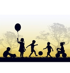 territory of a happy childhood vector image