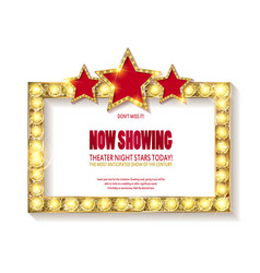 Theater sign or cinema sign on white background vector
