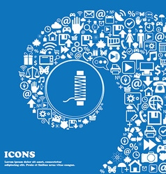 Thread Icon sign Nice set of beautiful icons vector