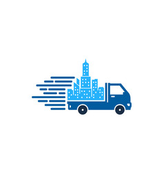 town delivery logo icon design vector image