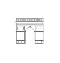 Triumphal arch in paris france flat icon vector