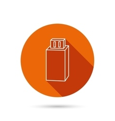 USB drive icon Flash stick sign vector image