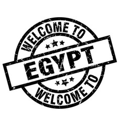 welcome to egypt black stamp vector image