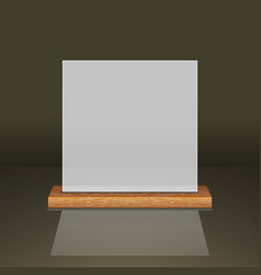 white translucent frame on a wooden shelf vector image