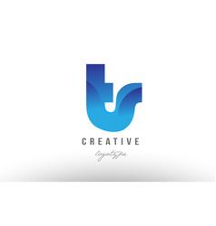 blue gradient ts t s alphabet letter logo vector image