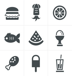 Food Icons Set Design vector image vector image