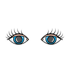 vision eyes with eyelashes style design vector image vector image