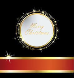 Elegant christmas card with golden ball and tinse vector