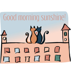 good morning sunshine vector image vector image