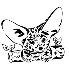 Hiqih quality Fenech coloring or tattoo vector image