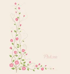 pink rose flower vector image vector image