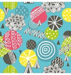 Seamless pattern with hand drawn balls vector image vector image
