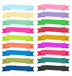 sweet color ribbon banners on white background vector image vector image