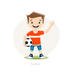 young soccer player isoolated on white background vector image