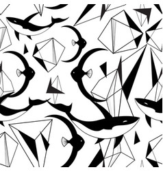 abstract graphic pattern from geometric shapes vector image