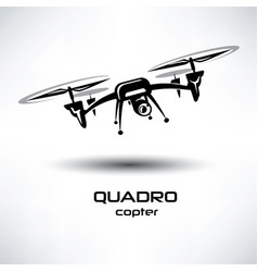 drone icon quadrocopter stylized symbol vector image vector image