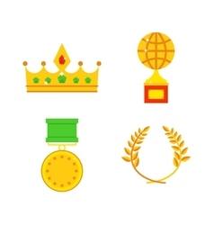 Honors icons vector image