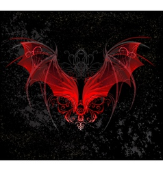 Red dragon wings vector image vector image