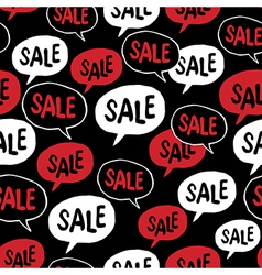 Black Friday Seamless pattern Speech Bubble with vector image vector image
