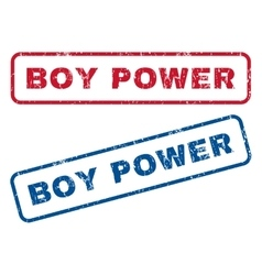 Boy Power Rubber Stamps vector image