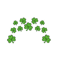 Clovers plant natural decoration vector