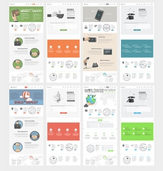 Collection of flat website templates for business vector image vector image