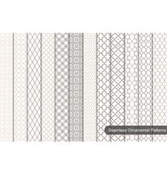 Collection of ornamental seamless patterns vector image