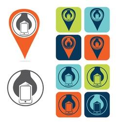 mobile development icon set flat design vector image vector image
