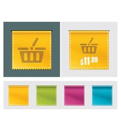 price tag ribbon vector image vector image