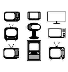 Retro and modern TV vector image vector image