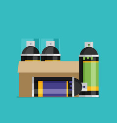 spray paint can flat vector image
