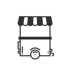 street food retail thin line icon food trolley vector image