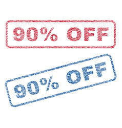 90 percent off textile stamps vector