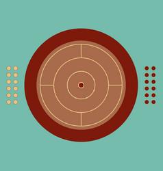 A board for play crokinole vector